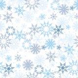 Modelo abstracto inconsútil del vector de copos de nieve stock de ilustración