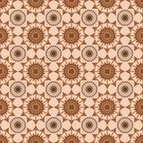 Modelo abstracto marrón inconsútil en fondo beige Imagen de archivo