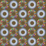 Modelo abstracto multicolor en fondo marrón Foto de archivo libre de regalías