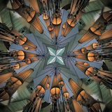 Modelo abstracto radial con forma de la lámpara imagen de archivo libre de regalías