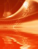 Modelo abstracto rojo ilustración del vector