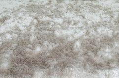 Modelo abstracto superficial de la tela del primer en la alfombra gris de la tela en el piso del fondo de la textura de la casa Imagen de archivo