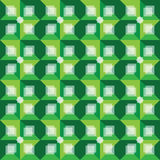 Modelo abstracto verde retro del fondo Fotos de archivo