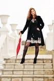 Modelo adolescente com guarda-chuva Imagem de Stock