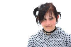 Modelo adolescente de Goth Fotos de archivo