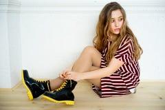 Modelo adolescente de la muchacha Foto de archivo libre de regalías