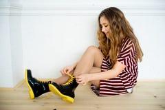 Modelo adolescente de la muchacha Imagen de archivo
