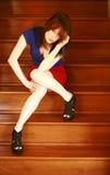 Modelo adolescente de la muchacha Imagenes de archivo