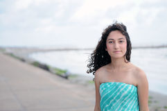 Modelo adolescente na praia Imagem de Stock