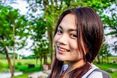 Modelo adolescente romántico de la muchacha asiática hermosa joven  Imágenes de archivo libres de regalías