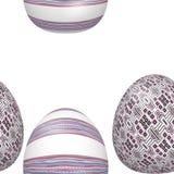Modelo adornado inconsútil de los huevos de Pascua Imagen de archivo libre de regalías
