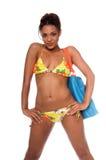 Modelo africano del bikiní Imagen de archivo libre de regalías