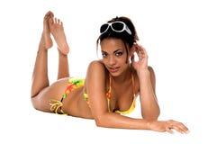 Modelo africano do biquini imagem de stock royalty free