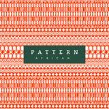 Modelo africano inconsútil Rayas horizontales exhaustas de la mano Impresión anaranjada brillante para sus materias textiles libre illustration