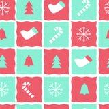 Modelo agradable y simple de la Navidad imagenes de archivo