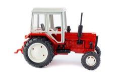 Modelo aislado tractor del juguete Imagen de archivo libre de regalías