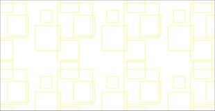 Modelo amarillo abstracto moderno simple de los cuadrados Foto de archivo