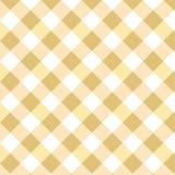 Modelo amarillo de la guinga del Rhombus Los cuadrados texturizan para la tela escocesa, manteles, ropa, camisas, vestidos, papel ilustración del vector
