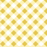 Modelo amarillo de la guinga Los cuadrados texturizan para la tela escocesa, los manteles, la ropa, las camisas, los vestidos, el libre illustration