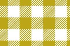 Modelo amarillo de la guinga Textura del Rhombus/de los cuadrados para - la tela escocesa, los manteles, la ropa, las camisas, lo stock de ilustración