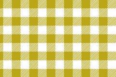 Modelo amarillo de la guinga Textura del Rhombus/de los cuadrados para - la tela escocesa, los manteles, la ropa, las camisas, lo ilustración del vector