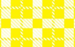 Modelo amarillo de la guinga Textura del Rhombus para - la tela escocesa, manteles, camisas, vestidos, papel, lecho, mantas, edre libre illustration