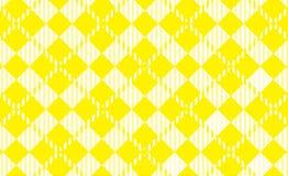 Modelo amarillo de la guinga Textura del Rhombus para - la tela escocesa, manteles, camisas, vestidos, papel, lecho, mantas, edre ilustración del vector