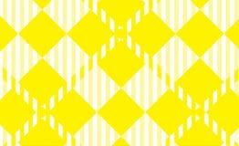 Modelo amarillo de la guinga Textura del Rhombus para - la tela escocesa, manteles, camisas, vestidos, papel, lecho, mantas, edre stock de ilustración
