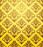 Modelo amarillo del ornamento del oro Fotos de archivo