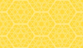 Modelo amarillo moderno geométrico decorativo Imágenes de archivo libres de regalías
