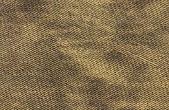 Modelo amarillo y negro de los vaqueros hecho del cuero artificial Foto de archivo
