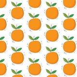 Modelo anaranjado dibujado mano de la fruta Modelo inconsútil Textura de la impresión Diseño de la tela Imagen de archivo
