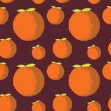 Modelo anaranjado incons?til del vector de la fruta ilustración del vector