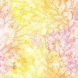 Modelo anaranjado y rosado del grunge floral inconsútil Foto de archivo libre de regalías