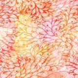 Modelo anaranjado y rosado del grunge floral inconsútil Imagen de archivo