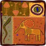 modelo animal africano stock de ilustración