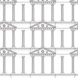 Modelo antiguo de la columnata Foto de archivo libre de regalías