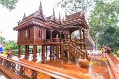Modelo antiguo del estilo de las casas tailandesas foreshorten Imágenes de archivo libres de regalías