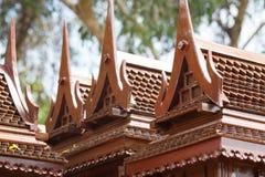 Modelo antiguo del estilo de las casas tailandesas foreshorten Fotografía de archivo libre de regalías