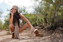 Modelo ao ar livre 'sexy' de Burnette Foto de Stock