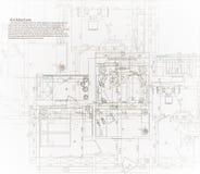 Modelo arquitectónico de la casa Imágenes de archivo libres de regalías