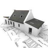 Modelo arquitectónico encima de modelos