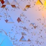 Modelo arquitectónico futurista irregular abstracto, fondo del ejemplo de los triángulos 3d libre illustration