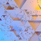 Modelo arquitectónico futurista irregular abstracto, fondo del ejemplo de los triángulos 3d stock de ilustración