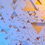 Modelo arquitectónico futurista irregular abstracto, fondo del ejemplo de los triángulos 3d ilustración del vector