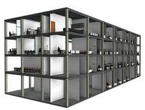 Modelo arquitetónico da construção do desenho de esboço Foto de Stock