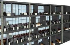 Modelo arquitetónico da construção do desenho de esboço Imagens de Stock