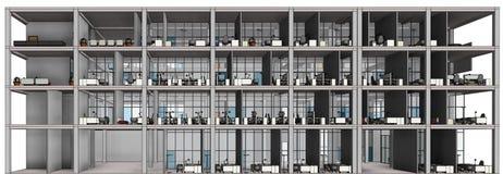 Modelo arquitetónico da construção do desenho de esboço Imagem de Stock