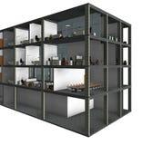 Modelo arquitetónico da construção do desenho de esboço Fotografia de Stock