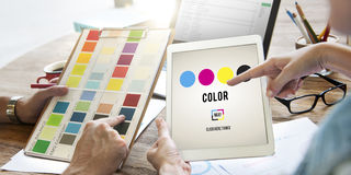 Modelo Art Paint Pigment Motion Concept do projeto da cor Imagens de Stock Royalty Free